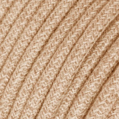 Round Electric Cable covered by Jute fabric RN06