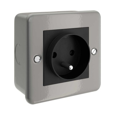 Metal clad box with french socket for Creative-Tube