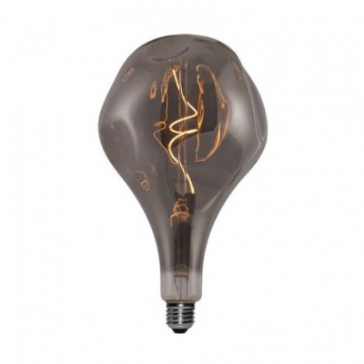 XXL LED Bulb Pear A165 Bumped Smoky spiral filament 5W E27 Dimmable 2000K