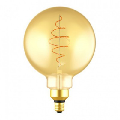 LED XXL Bulb Globe G200 Golden Croissant Line with Spiral Filament 8.5W E27 Dimmable 2000K