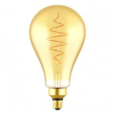 LED XXL Bulb Pear A160 Golden Croissant Line with Spiral Filament 8.5W E27 Dimmable 2000K