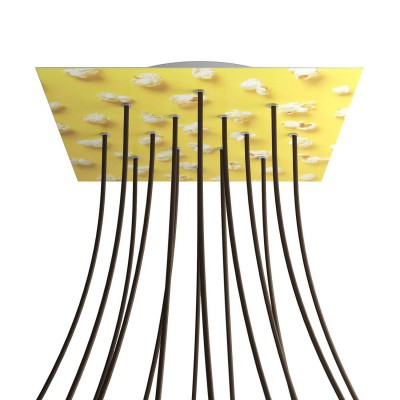 Square XXL Rose-One 14-hole and 4 side holes ceiling rose kit, 400 mm - PROMO