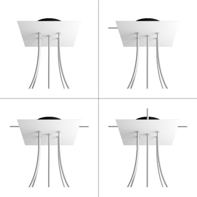 Square Rose-One 5-hole and 4 side holes ceiling rose Kit, 200 mm