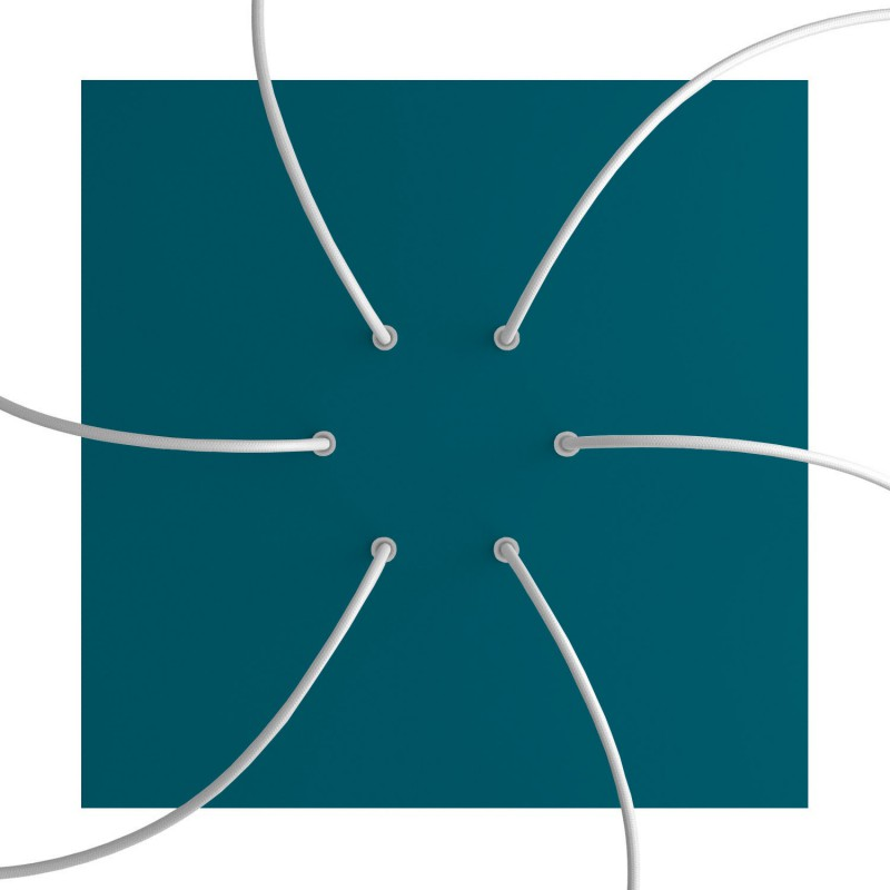 Square XXL Rose-One 6-hole and 4 side holes ceiling rose Kit, 400 mm