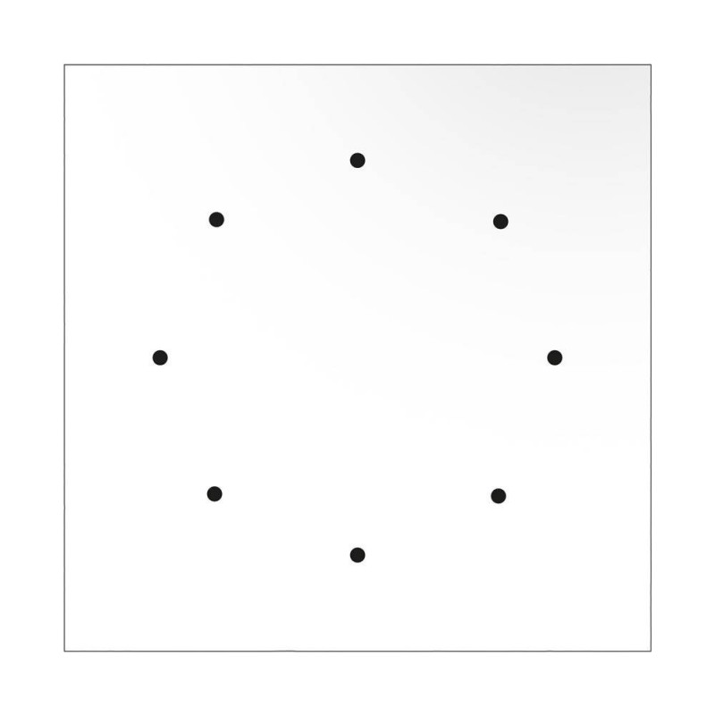 Square XXL Rose-One 8-hole and 4 side holes ceiling rose Kit, 400 mm