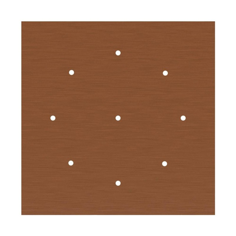 Square XXL Rose-One 9-hole and 4 side holes ceiling rose Kit, 400 mm