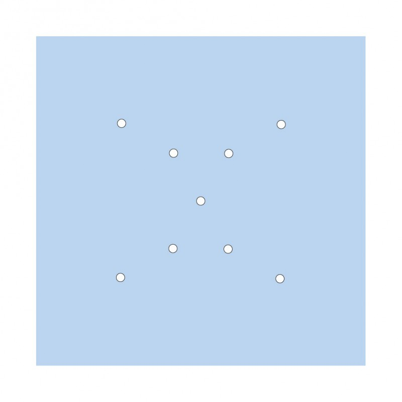 Square XXL Rose-One 9 X-shaped holes and 4 side holes ceiling rose Kit, 400 mm
