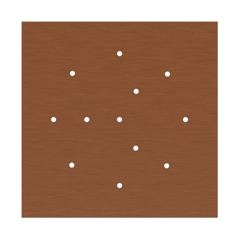 Square XXL Rose-One 12-hole and 4 side holes ceiling rose Kit, 400 mm