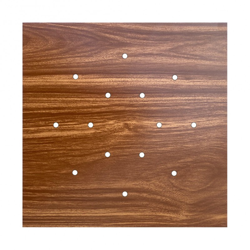 Square XXL Rose-One 14-hole and 4 side holes ceiling rose Kit, 400 mm