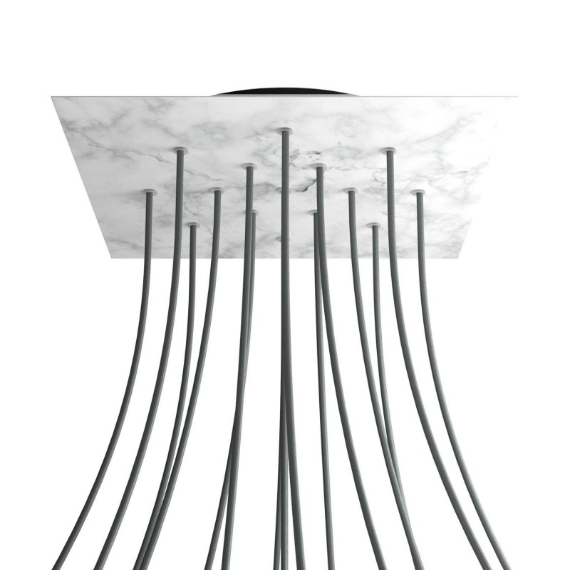 Square XXL Rose-One 15-hole and 4 side holes ceiling rose Kit, 400 mm