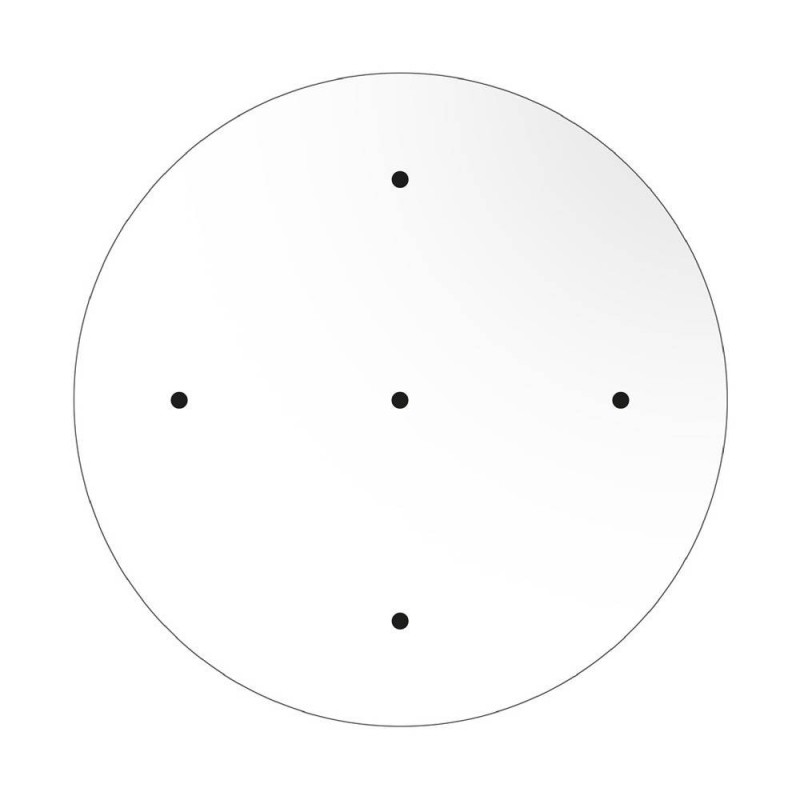 Large Round Smart ceiling rose, 400 mm Panel Rose-One with 5 holes - compatible with voice assistants