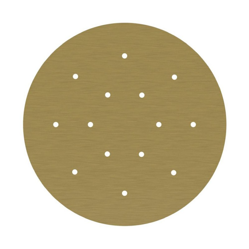 Large Round Smart ceiling rose, 400 mm Panel Rose-One with 14 holes - compatible with voice assistants