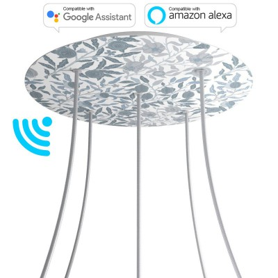 Large Round Smart ceiling rose, 400 mm Panel Rose-One with 5 holes - compatible with voice assistants - PROMO