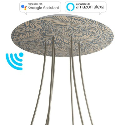 Large Round Smart ceiling rose, 400 mm Panel Rose-One with 6 holes - compatible with voice assistants - PROMO