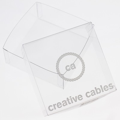 Transparent boxes with trademark Creative-Cables 100X100X40. 100 pieces