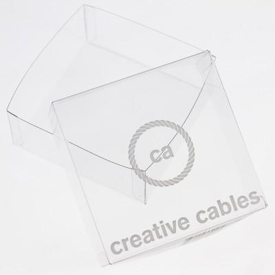 Scatole trasparenti con marchio Creative-Cables 100X100X40. Formato 100 pezzi