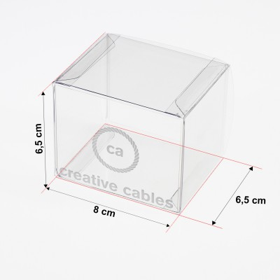Transparent boxes with trademark Creative-Cables 80X65X65. 100 pieces