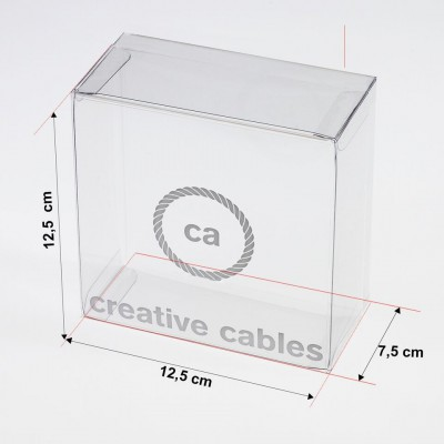 Transparent boxes with trademark Creative-Cables 125x125x75. 100 pieces