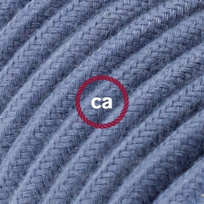 In a box Round Electric Cable covered by Cotton solid color fabric RC30 Stone Gray