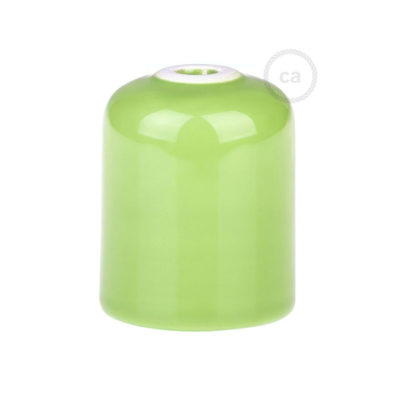 Spider ceramica verde, sospensione multipla a 6-7 cadute, cavo RM18 verde. Made in Italy.