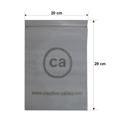 Small bags printed with closure and trademark Creative-Cables 20x29. 100 pieces