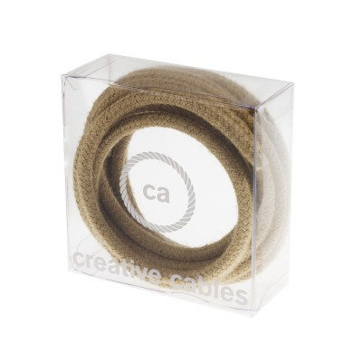 In a box Round Electric Cable covered by Jute fabric RN06