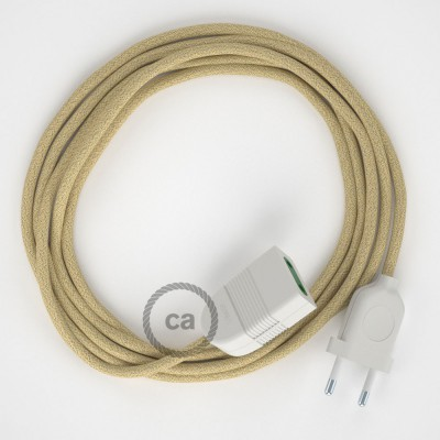 Jute fabric RN06 2P 10A Extension cable Made in Italy