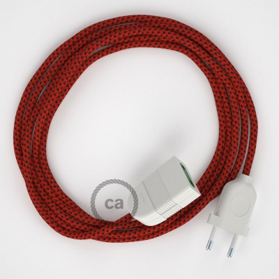Red Devil Rayon fabric RT94 2P 10A Extension cable Made in Italy