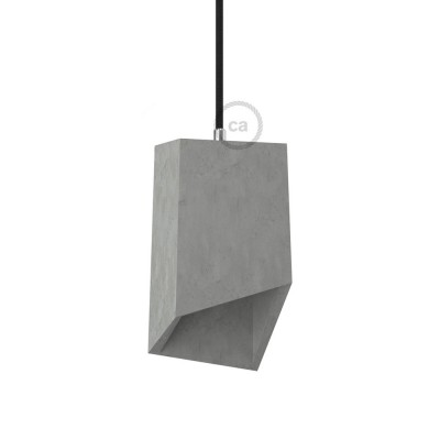 Prism cement lampshade with cable retainer and E27 lamp holder