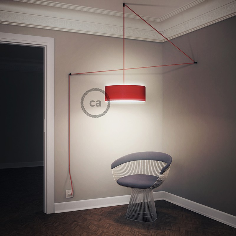 Create your RD54 Stripes Anthracite Snake for lampshade and bring the light wherever you want.