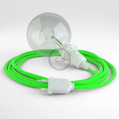 Create your RF06 Green Fluo Snake for lampshade and bring the light wherever you want.