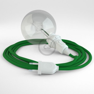 Create your RM06 Green Rayon Snake for lampshade and bring the light wherever you want.