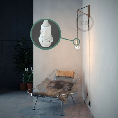 Create your TM26 Dark Gray Rayon Snake for lampshade and bring the light wherever you want.