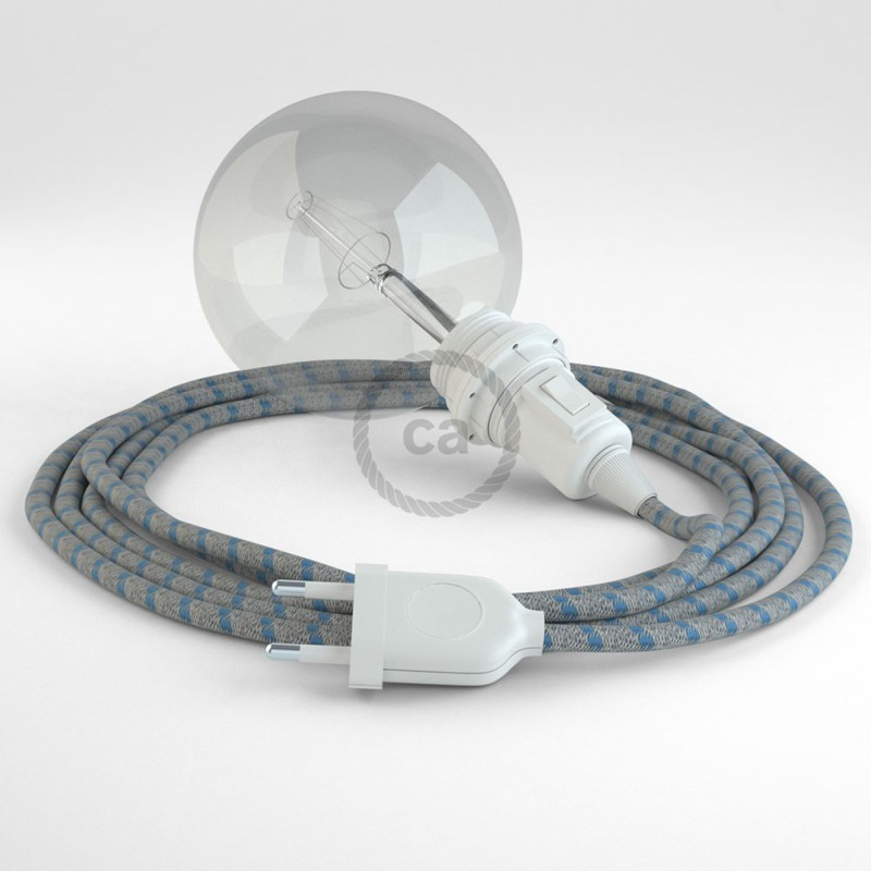 Create your RD55 Stripes Steward Blue Snake for lampshade and bring the light wherever you want.