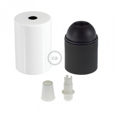 E26 UL Cylinder socket kit with white cap + white cable retainer