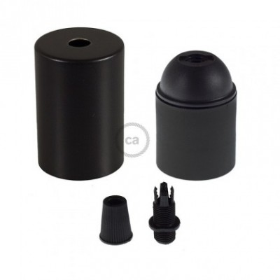 E26 UL Cylinder socket kit with black cap + black cable retainer