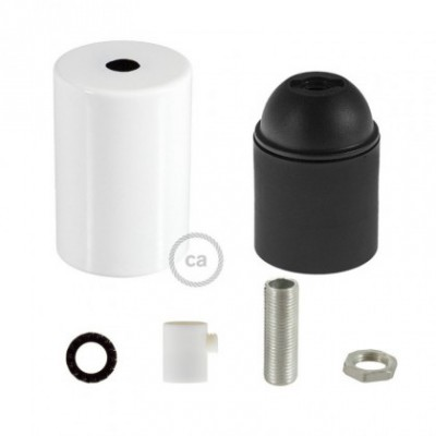 E26 UL Cylinder socket kit with white cap + cylindrical cable retainer