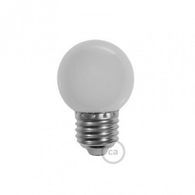 Decorative G45 Miniglobe LED bulb 1W E27 2700K - Milk-white