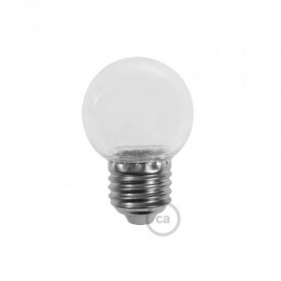 Decorative G45 Miniglobe LED bulb 1W E27 2700K - Transparent