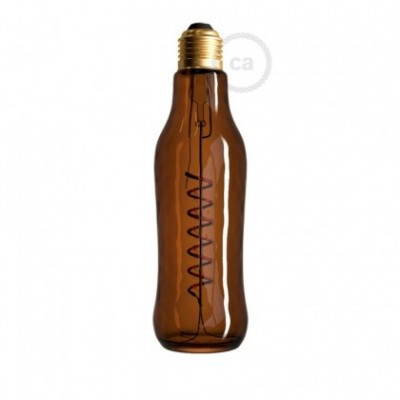 Lampadina LED Beer Marrone 8W E27 Dimmerabile 1800K