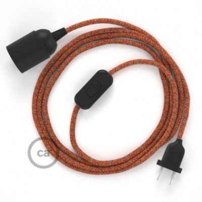 SnakeBis wiring with lamp holder and fabric cable - Indian Summer Cotton RX07
