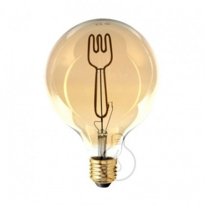 Ampoule Led Globo G125 série Masterchef filament Fourchette 4W E27 Dimmable 2000K