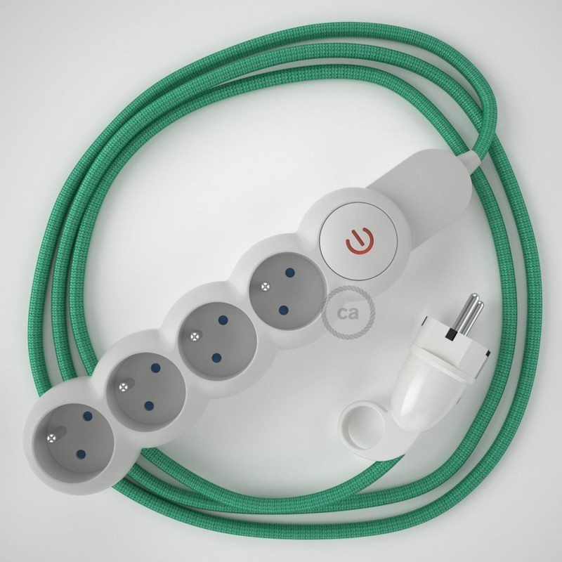 Awe Inspiring French Power Strip With Electrical Cable Covered In Rayon Opal Wiring Digital Resources Instshebarightsorg