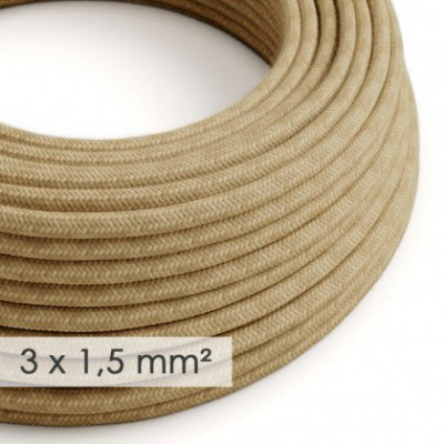 Large section electric cable 3x1,50 round - covered by Jute RN06