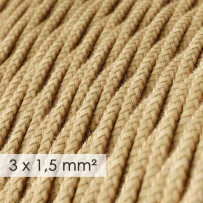 Large section electric cable 3x1,50 twisted - covered by Jute TN06