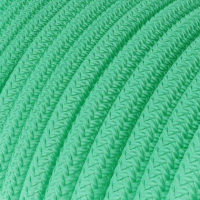 Round Electric Cable covered in Rayon - Opal RH69