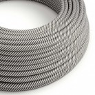 Round Electric Vertigo HD Cable covered by White and Slate fabric ERM37