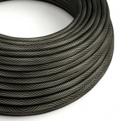 Round Electric Vertigo HD Cable covered by Optical Black and Grey fabric ERM67