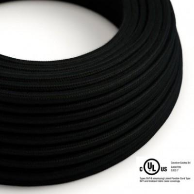 Cavo elettrico rotondo in bobina da 45,72 m (150 ft) RC04 Cotone Nero - Omologato UL