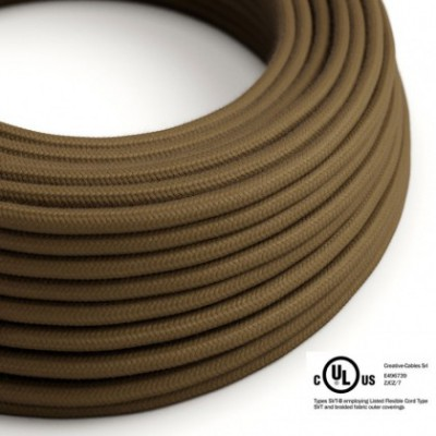 Cavo elettrico rotondo in bobina da 45,72 m (150 ft) RC13 Cotone Marrone - Omologato UL